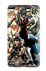 Hot Tpu Cover Case For Galaxy/ Note 3 Case Cover Skin - Marvel