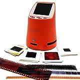 Wolverine F2D Mighty 20MP 7-in-1 Film to Digital Converter, for 135 (35mm) Negative & Slides, 110, 126, 127 & Library, 8mm & Super 8 Films, Worldwide 110V/220V - Plus 3 Slide Trays - Orange (Bundle)