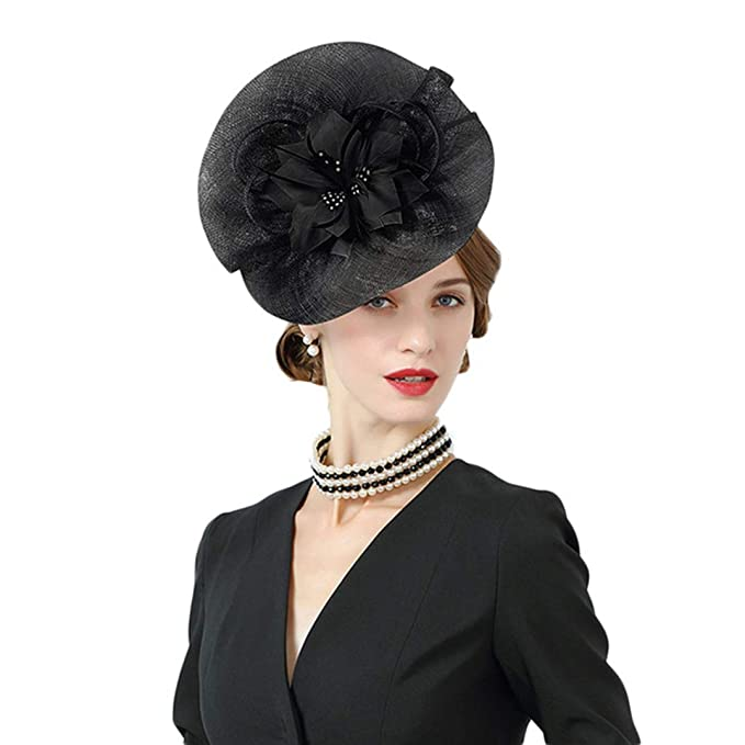 1c73c17c Women Fascinators British Royal Wedding Hats 100% Sinamay Hat ...