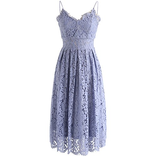 ender Full Lace V-Neck Pleated Cami Dress ()