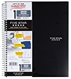 Five Star 06190 11'' X 8-1/2'' Graph Ruled 1 Subject Notebook Assorted Colors (Pack of 2)