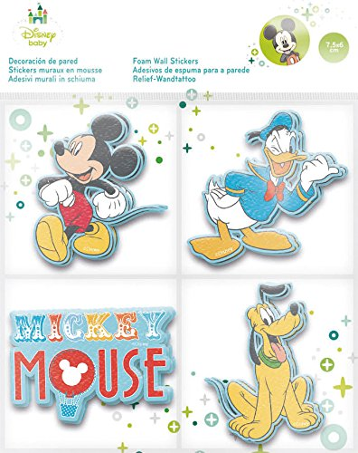 Amazon.com: Mickey etiqueta de la pared del Disney de espuma ...