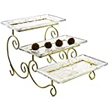 3 Tier Appetizer Serving Tray Wedding Cake Stand Cupcake Tower 3 Tier Server
