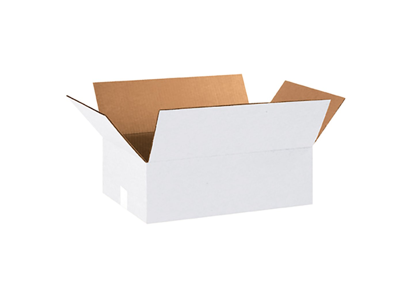 RetailSource B181206WB250 White Corrugated Box, 6'' Height, 12'' Width, 18'' Length, Brown (Pack of 250)