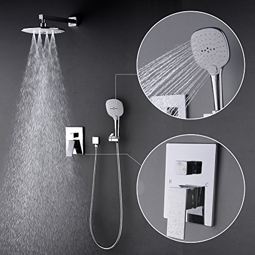 STARBATH Rain Shower System- Showr Faucet Rough in Valve Included - 10