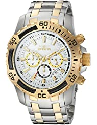 Invicta Men's 'Pro Diver' Quartz Stainless Steel Casual Watch, Color:Two Tone (Model: 24859)