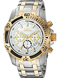 Men's 'Pro Diver' Quartz Stainless Steel Casual Watch, Color:Two Tone (Model: 24859)
