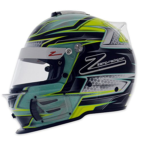 RZ-42 Graphic Green/Silver K X-Large 62CM SNELL SA2015 Helmet by Zamp X-Large