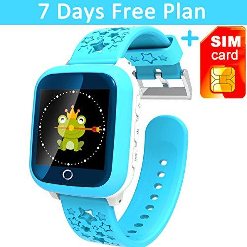 Waterproof Smartwatch Universal Smartphone Blue product image