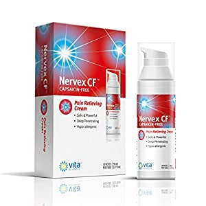 Neuropathy Rapid Pain Relief Cream with Arnica, B1, B5, B6, MSM. Soothing Aloe and Coconut Oil Base Capsaicin-FREE. Reduce Burning, Tingling, Numbness. Money Back Guarantee. NERVEX CF