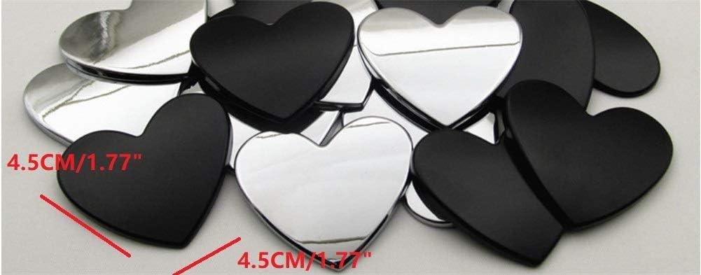 Fully 4.5CM//1.77 DIY Letters Alphabet Number Symbol Charm 3D Metal Car Auto Emblem Letter Badge Decal Black, Number: 0