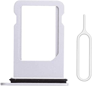Afeax Silver SIM Card Tray Holder Replacement for iPhone 8 4.7""