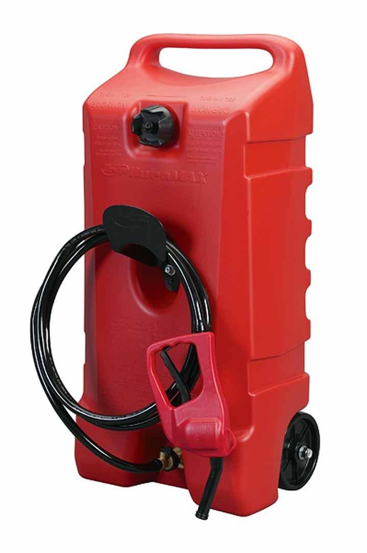 DuraMax Flo n Go LE Fluid Transfer Pump and 14-Gallon Rolling Gas Can Renewed