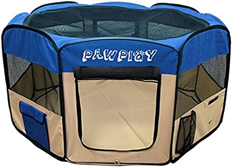 Dog Playpen For Small And Medium Dogs   Portable Pet Playpens With Zip Able  Roof