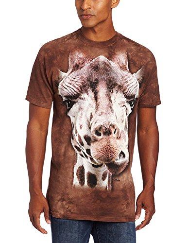 The Mountain Giraffe Adult T-Shirt, Brown, Large