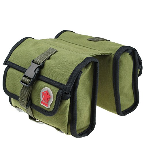 1Pc Front Frame Bike Tube Saddle Bag Army Green Outdoor Cycling Bicycle Bag Waterproof Sports Bike (Pack Sportbike Saddlebags)