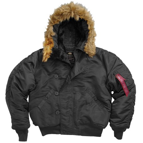 Fur Trimmed Toggle - Alpha N-2B Short Waist Parka XL/Black
