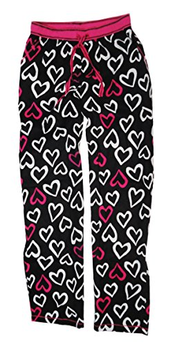 - DKNY Womens Flannel Lounge Pajama Pants, Black Ground Heart, XX-Large
