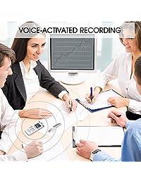 Grabadora de voz digital de 8 G para conferencias y reuniones, grabadora de sonido activada por voz, grabadora de cinta de dictáfono, grabadora con reproductor de MP3