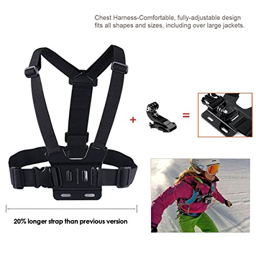 Kupton-Case-for-Xiaomi-4KYi-4KYi-LiteYI-Discovery-4K-Waterproof-Housing-Case-Head-Strap-Chest-Harness-Car-Suction-CupBike-Handlebar-MountFloaty-Handle-Action-Camera-Starter-Kit