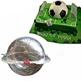 3D Soccer Chocolate Mold - MoldFun Large Size Plastic Football Mold for Candy, Soap, Lotion Bar, Cake Topper Decorating