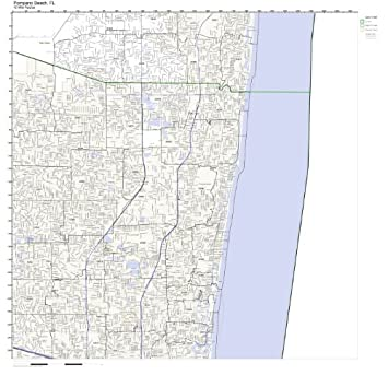 Amazon Com Pompano Beach Fl Zip Code Map Not Laminated Home Kitchen
