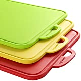zanmini Color Cutting Boards for Kitchen, Dishwasher-Safe Chopping Board with Non-Slip Feet and Handing Hole Stand, BPA-Free, FDA Approved, Eco Friendly