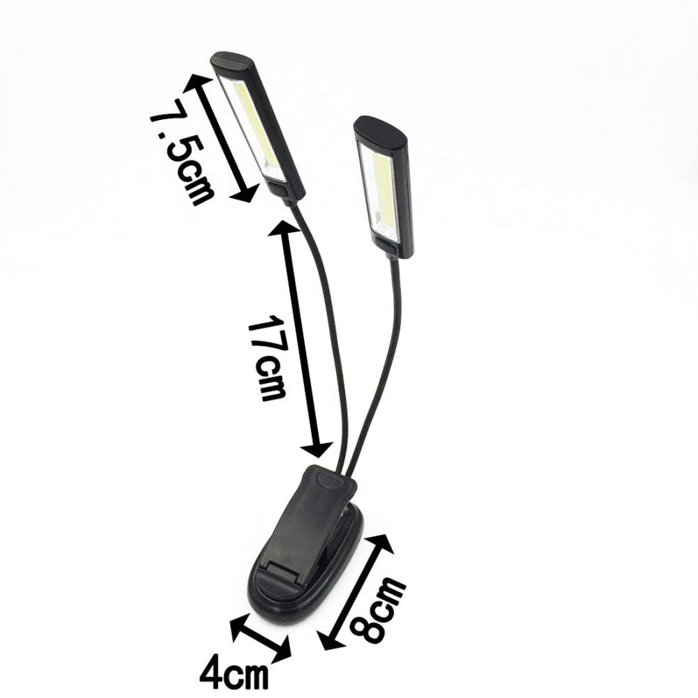 YYDEO Ebook Light Book Light Lamp White Color Mini Flexible Clip-On Book Reader Reading Lamp Convenient for Note