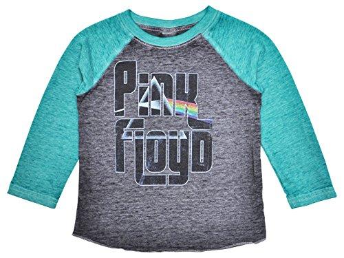 Pink Floyd Toddlers or Baby T-Shirt Dark Side of Moon Print Raglan Burnout (4T) - Pink Floyd Baby Clothes