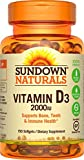 Best Sundown Naturals probiotic supplement - Sundown Naturals Vitamin D3 2000 Iu, 150 Softgels Review