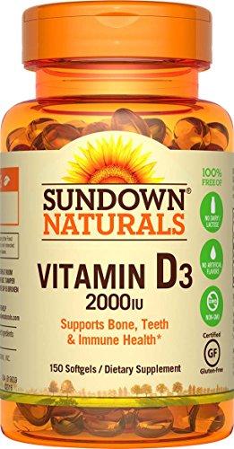Sundown Naturals Vitamin D3 2000 Iu, 150 Softgels