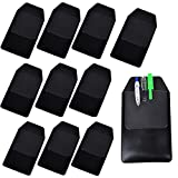 TEKEFT 8 Pcs Black Vinyl Pocket Protector for Pen Leaks