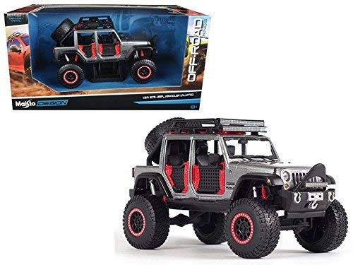 2015 Off Road Models - MAISTO 1:24 W/B - OFF-ROAD KINGS - 2015 JEEP WRANGLER UNLIMITED 32523GRY