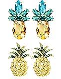 Besteel Pineapple Stud Earrings for Women Girls Cute Party Fruit Earring Set