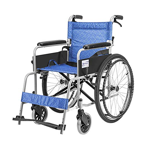 Amazon.com: Sillón de rueda MS, silla de ruedas portátil ...