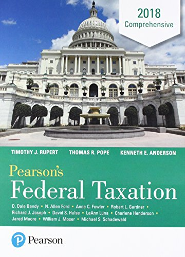 Comprehensive Package (Pearson's Federal Taxation 2018 Comprehensive Plus MyLab Accounting with Pearson eText - Access Card Package (31st Edition))