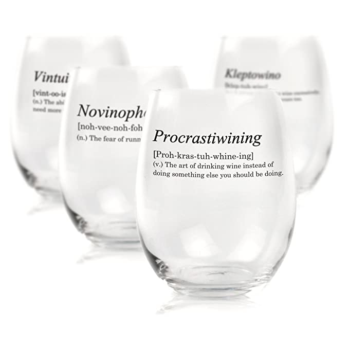 Review Funny Stemless Wine Glass