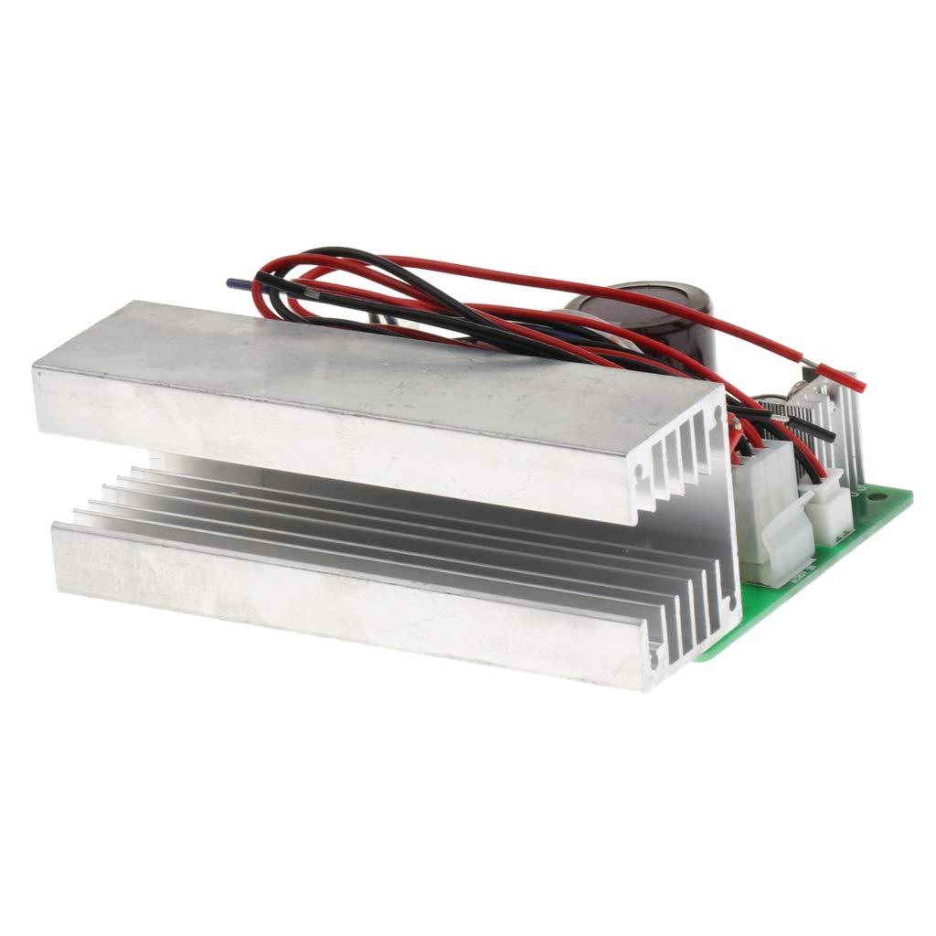 KESOTO Amplificador de Potencia Tablero Módulo Digital de 100 Vatios DC 12-24 V con Disipador Accesorios de Bricolaje