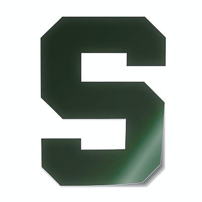Nudge Printing Michigan State University Spartans Block S Logo Car Decal Bumper Sticker Laptop Sticker (Green): Computers & Accessories