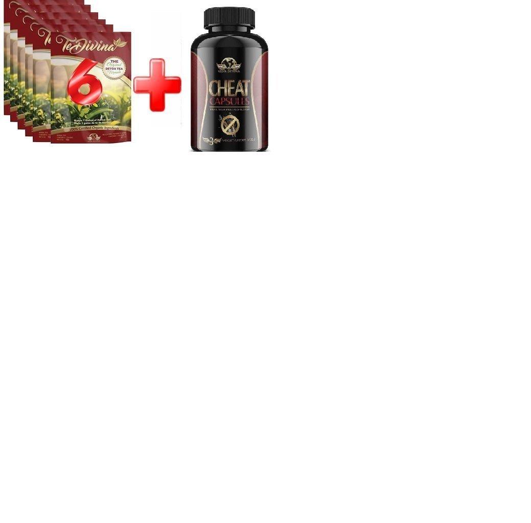 Hot Seller, Lose weight with popular te-divina 6 week supply plus Cheat capsules by Vidadivina, way more effective than iaso tea by vida divina