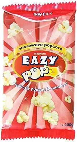 Eazypop - Palomitas dulces - 100 g - Pack de 4 unidades: Amazon.es ...