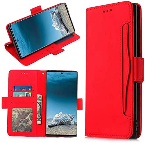 iPhone 11 Pro 2019 Case, Shockproof PU Leather Flip Wallet Cover with Magnetic Stand Card Holder ID Slot Folio Soft TPU Bumper Slim Fit Protective Case Skin for iPhone 11 Pro 2019 red