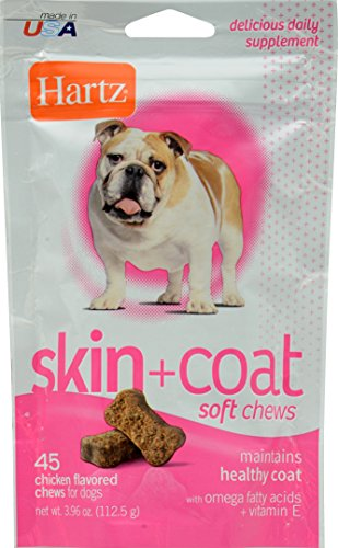 HARTZ Skin and Coat Daily Supplement Chicken Flavored Soft Chews for Dogs 51F4KopLnrL