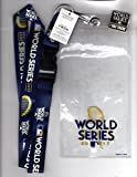 "2017 WORLD SERIES LANYARD WITH TICKET HOLDER & ""I WAS THERE"" PIN 3 PIECE SET DODGERS VS. ASTROS"