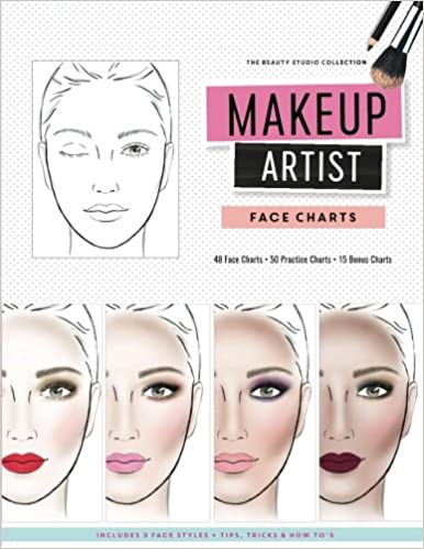 amazon makeup artist face charts gina m reyna style clothing