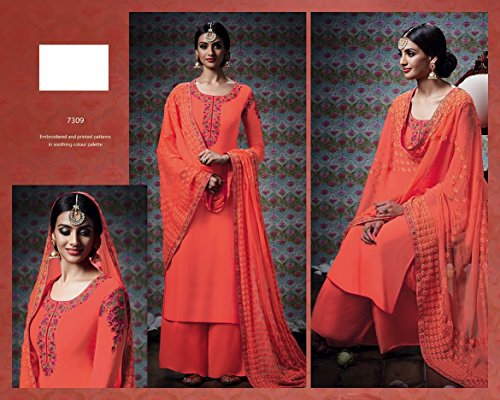 Eid Muslim Wear Ethnic Designer Women Hijab Indian Straight Salwar Kameez suit 8832