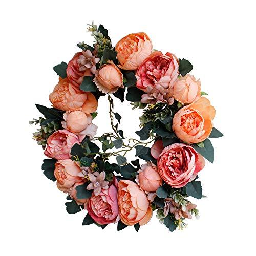 (Evoio Artificial Flower Wreath, 16