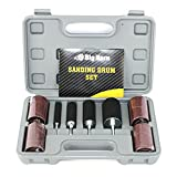 Big Horn 19521 Rubber Sanding Drum Set, 20 Piece