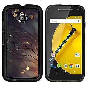 LECELL--Funda protectora / Cubierta / Piel For Motorola Moto E2 E2nd Gen -- Valla metálica --