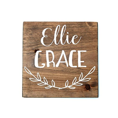 Handmade baby gift amazon personalized baby gifts wood sign for bedroom childs room decor personalized nursery decor custom wood signs negle Images